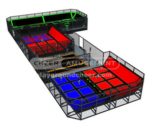 Trampoline Park Equipment Model# Big trampoline park-18 CH-ST150025