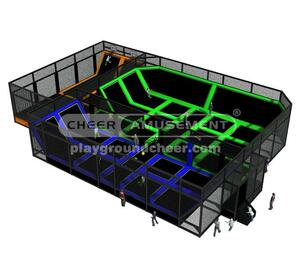 Indoor Playground  Equipment Trampoline Park Equipment Model# Big trampoline park-20 CH-ST150026