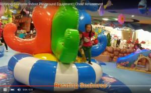 Motion Soft Play  Rotating Seahorse Indoor Playground Equipment   Cheer Amusement