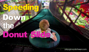 Speeding Down the Donut Slide | Indoor Playgrround Equipment | Cheer Amusement