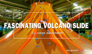 2018 fascinating Volcano Slide | Indoor Play | Cheer Amusement
