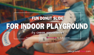 Fun Donut Slide for Indoor Playgroundv