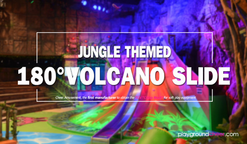 Jungle Themed 180° Volcano Slide