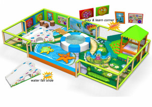Children Play Centre Underwater World Themed Toddler Soft Playground Equipment