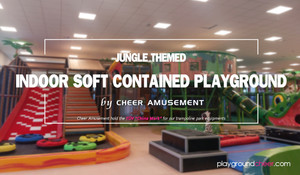 Jungle Themed Indoor Soft Contained Playground by Cheer Amusement
