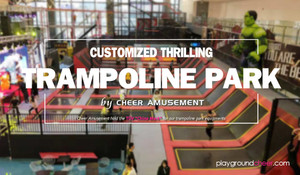 CUSTOMIZED THRILLING TRAMPOLINE PARK by Cheer Amusement