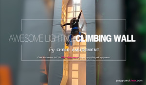 Lighted Climbing Wall