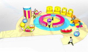 Circus Themed Children Amusement Park Toddler Softplay Ground Equipment
