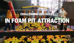 Challenging Obstacles in Foam Pit Attraction