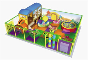 Cartoon Village Themed Toddler Playground Equipment