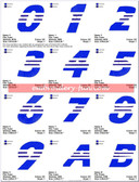 ADIDAS LOGO FONTS ALPHABETS EMBROIDERY DESIGNS