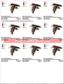 Atlanta Georgia Falcons Logo Embroidery Designs
