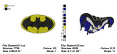BATMAN SUPER HEROES EMBROIDERY DESIGNS