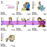 BEAUTY AND THE BEAST Embroidery Designs Patterns
