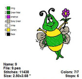 BUGGIE WUGGIE CARTOON EMBROIDERY DESIGNS