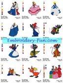 CINDERELLA DISNEY EMBROIDERY DESIGNS PATTERNS