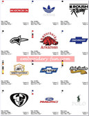 CLOTHING CAP CAR BRAND LOGOS EMBROIDERY DESIGNS