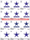 COWBOYS TEXAS DALLAS NFL LOGO EMBROIDERY DESIGNS