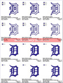 DETROIT TIGERS MLB MICHIGAN LOGO EMBROIDERY DESIGN