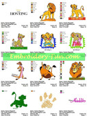 DISNEY FILM STARS CHARACTERS EMBROIDERY DESIGNS