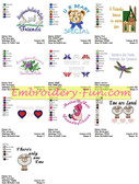 FRIENDS SAYINGS COLLECTION EMBROIDERY MACHINE DESIGNS
