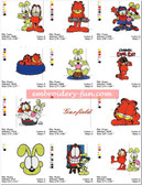 GARFIELD CARTOON MACHINE EMBROIDERY DESIGNS