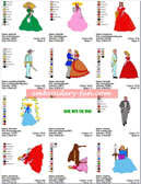 GONE WITH THE WIND CARTOON EMBROIDERY DESIGNS