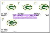 GREEN BAY PACKERS SPORTS LOGO EMBROIDERY DESIGNS