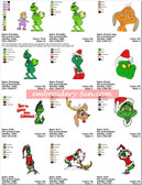 GRINCH CHRISTMAS Embroidery Machine Designs