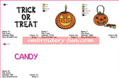 HALLOWEEN COLLECTION EMBROIDERY MACHINE DESIGNS