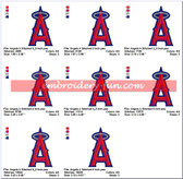 Los Angeles Angels of Anaheim Embroidery Designs
