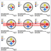 Pittsburgh Steelers NFL SPORTS LOGO EMBROIDERY DESIGNS
