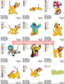 PLUTO CLASSIC DISNEY EMBROIDERY DESIGNS