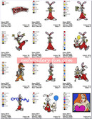 ROGER RABBIT Machine Embroidery Designs Patterns