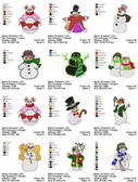 SNOWMAN EMBROIDERY MACHINE DESIGNS