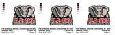 University of Alabama Crimson Tide Elephant Embroidery Designs
