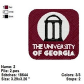 The University of Georgia  Embroidery Design