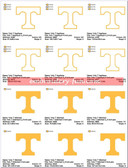 University of Tennessee Vols Volunteers LOGO SPORTS EMBROIDERY DESIGNS
