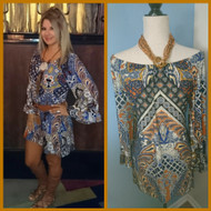 Tribal Earth Tone Dress