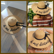 Tan and Black Do Not Disturb Hat