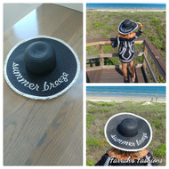 Black and White Summer Breeze Hat