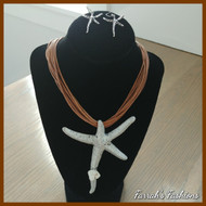 Starfish Charm Accent Cord Set