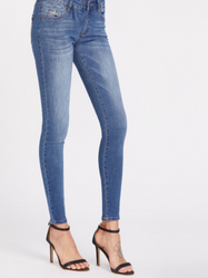 (((SOLD OUT))) Low Rise Bleach Wash Skinny Jeans