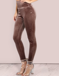 (((SOLD OUT)) Mocha Velvet Leggings