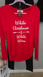 White Christmas & White Wine Top