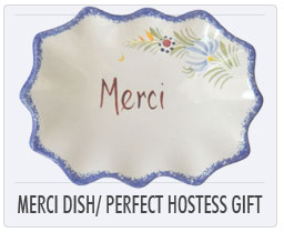 Quimper french Pottery Merci Dish - the perfect hostess gift