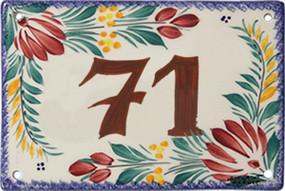 Quimper Door Plate - Decor Fleuri
