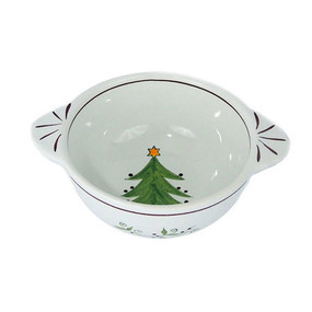 Quimper Breton Lug Bowl - Decor Spirit of Christmas