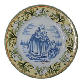 Wall Plate w/ Mother & Child - Prestige Porquier Beau