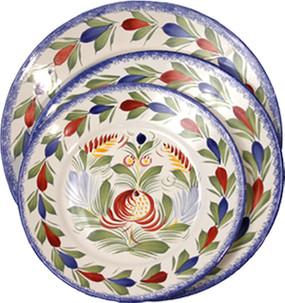 Round Plate - Fleuri Royal